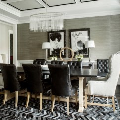 Chevron Living Room Curtains Chandeliers Modern Horizontal Striped - Contemporary Dining ...