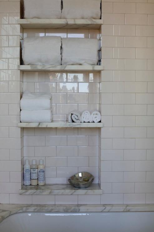 Corner Shower Shelves Transitional Bathroom Sherwin