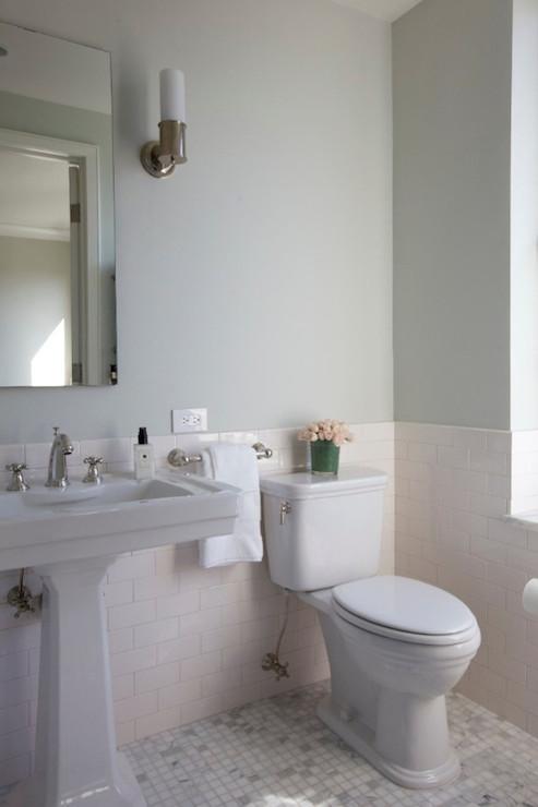 Parisian Pedestal Sink  Transitional  bathroom  Leivars
