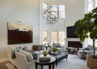 2 Story Living Room - Transitional - living room - Liz ...