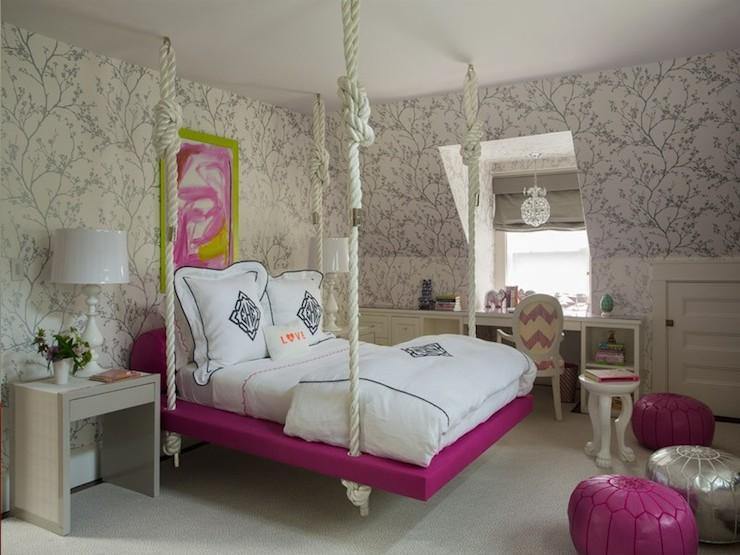 Kids Hanging Bed Contemporary Girl39s Room Liz Caan