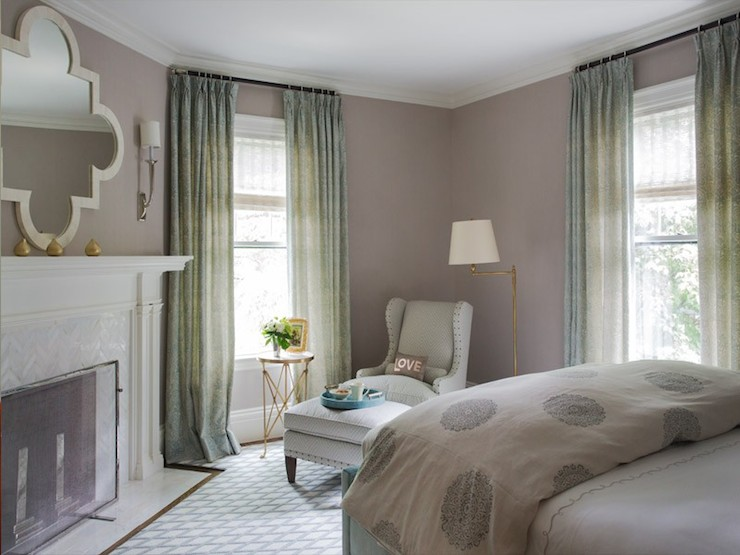 Corner Fireplace  Transitional  bedroom  Liz Caan Interiors