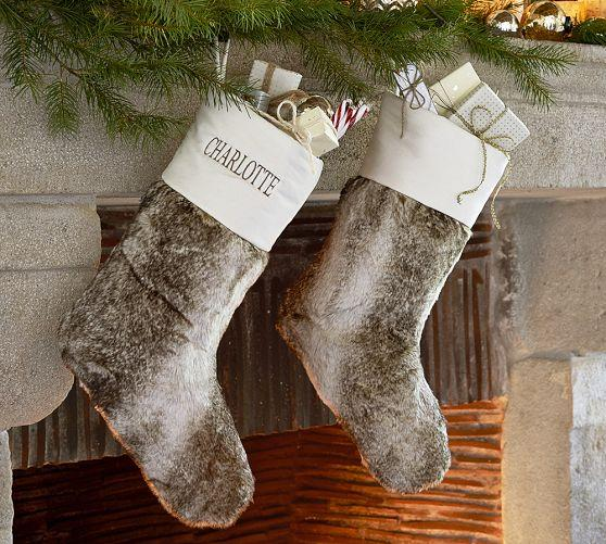 pottery barn butterfly chair toddler sofa faux fur stocking -