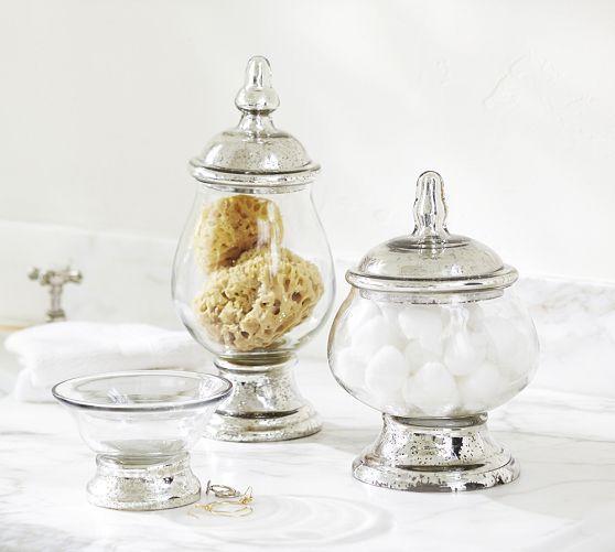Evleen Mercury Glass Bath Accessories
