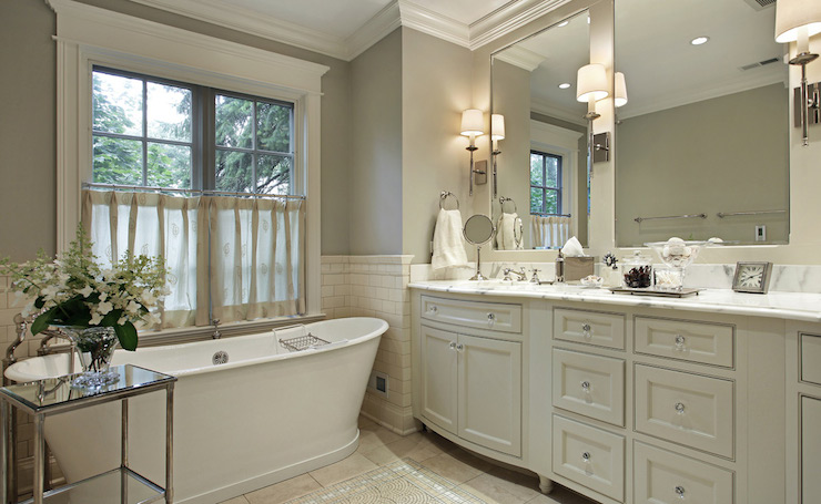 Ivory and Gray bathroom  Traditional  bathroom