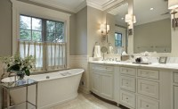 Ivory and Gray bathroom - Traditional - bathroom ...