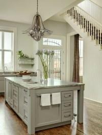 Gray Kitchen Island - Transitional - kitchen - Porters ...