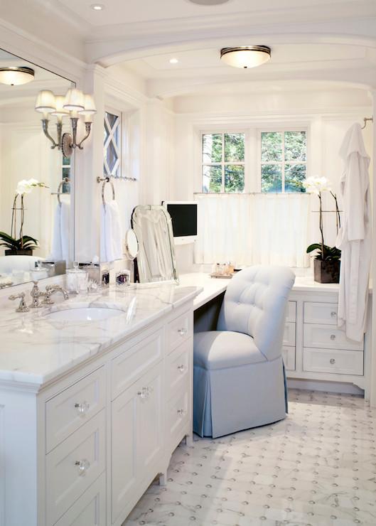 Built In Makeup Vanity  Traditional  bathroom  Benson