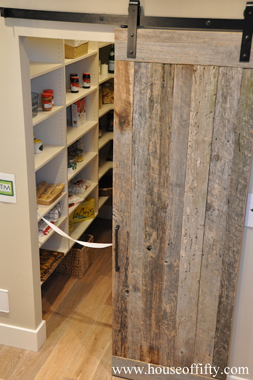 Pantry Barn Door  Cottage  kitchen  House of Fifty