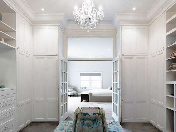 Closet with French Doors  Transitional  closet  Canny