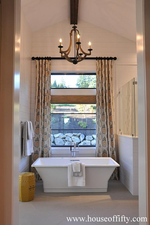 Bathroom Vaulted Ceiling  Contemporary  bathroom  House