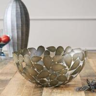 Metal Leaf Decorative Bowl