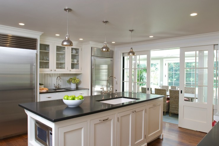 Absolute Black Granite Countertops  Cottage  kitchen