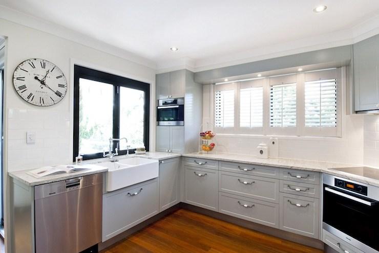 Corner Stove Contemporary Kitchen Interiors By