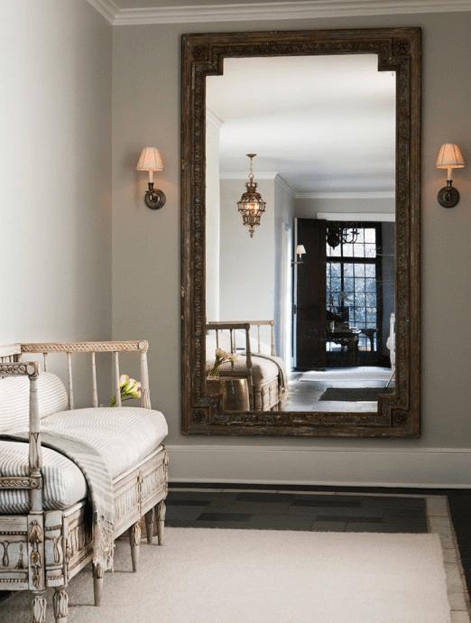 Foyer Wall Mirror  French  entrancefoyer  Sage Design