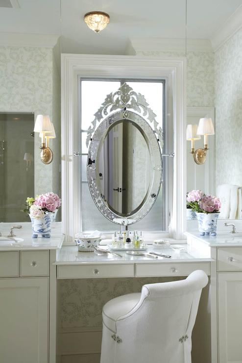 Mirrored Backsplash  Traditional  bathroom  Erotas