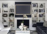 Navy Blue Sofa - Contemporary - living room - Sage Design