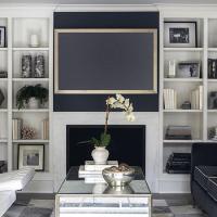 Navy Blue Sofa - Transitional - living room - Sloan Mauran ...