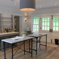 Suspended Kitchen Shelves Track Lighting In Gray Sideboard Cabinet - Cottage Talk Of The House