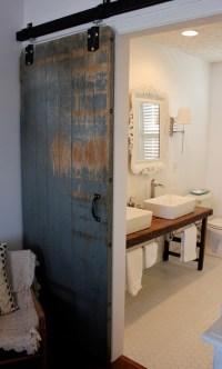 Bathroom Barn Door - Eclectic - bathroom