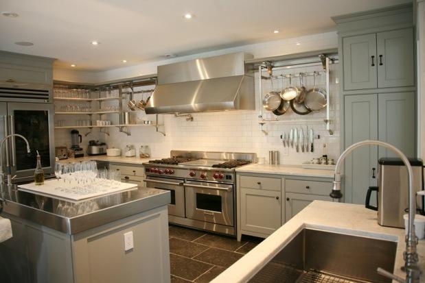 Grey Kitchen  Cottage  kitchen  Inn at Little Pond