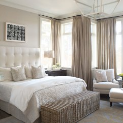 White Tufted Sofa Bed Microfiber Sleeper Greige Curtains Design Ideas