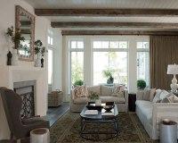 Living Room Beadboard Ceiling - Transitional - living room ...