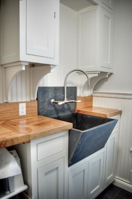Slate Sink  Cottage  laundry room  Gulf Shore Design