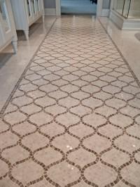 Mosaic Marble Bathroom Floor Design Ideas