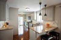 Gray Cabinets - Transitional - kitchen - Madison Taylor Design