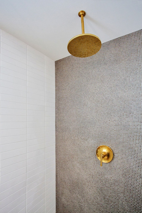Gold Rain Shower Head  Contemporary  bathroom  Madison