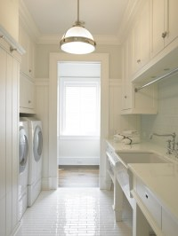 Galley Laundry Room - Transitional - laundry room - Brooks ...