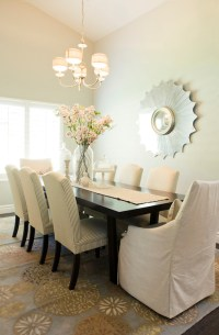Ticking Stripe Chairs - Transitional - dining room ...