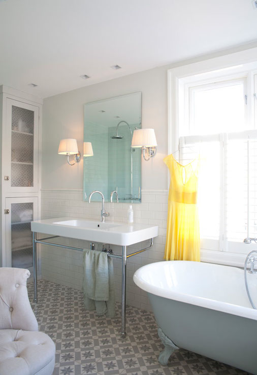 Gray Bathtub  Vintage  bathroom  Interior Magasinet