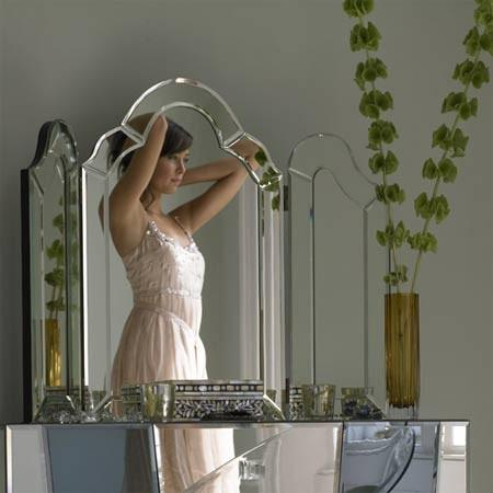 Ivana Triple Dressing Table Mirror