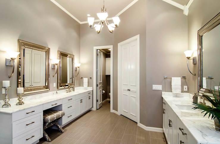 Gray Walls for Bathroom  Contemporary  bathroom  Sherwin Williams Functional Gray  Hatfield