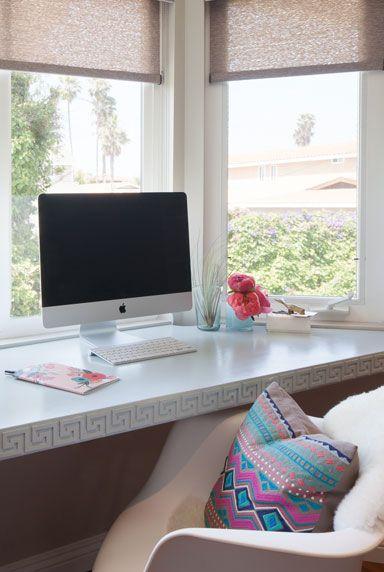 Purple And Black Bedroom Wallpaper Greek Key Desk Contemporary Den Library Office