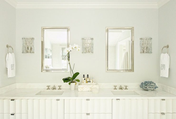Square Sinks  Transitional  bathroom  Laura Tutun Interiors
