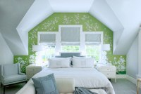 Green and Blue Bedroom - Transitional - Bedroom
