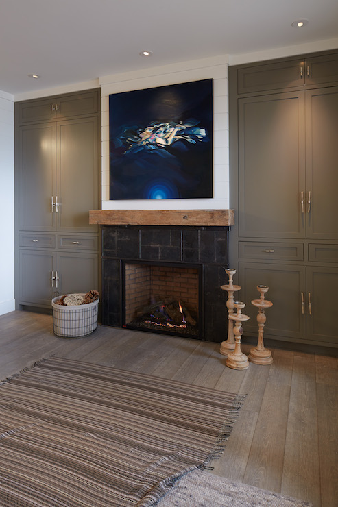 Cabinets Flanking Fireplace Design Ideas