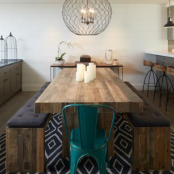 Chunky Dining Table  Contemporary  dining room