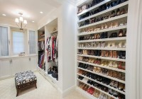 Full Wall Shoe Shelves - Transitional - closet - W Design