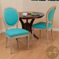 Christopher Knight Queen Anne Oval Back Teal Dining Chairs