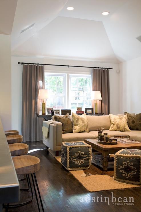 braided kitchen rugs cabinet lighting kilim pouf - transitional living room austin bean ...