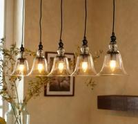 Rustic Glass 5-Light Pendant - Pottery Barn