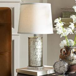 Pottery Barn Living Room Furniture Sets Tables For Etched Mercury Glass Table Lamp -