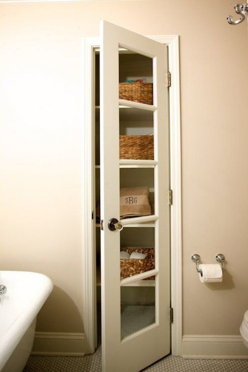 linen closet - transitional - bathroom - twin companies