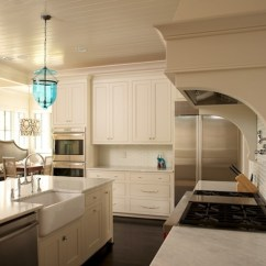 Lighting Over Kitchen Island Stainless Steel Work Table Beadboard Ceiling - Transitional Twin ...