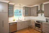Taupe Kitchen Cabinets - Contemporary - kitchen - Twin ...