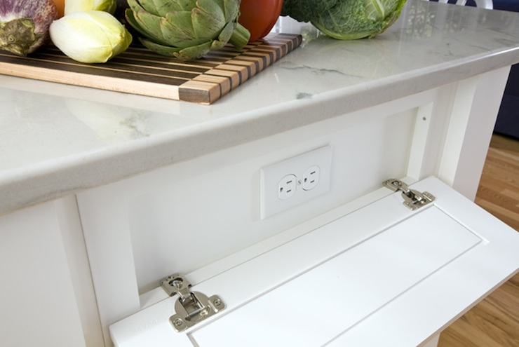 kitchen island electrical outlet tile countertop hidden outlets design ideas
